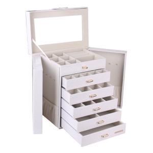 2. Schmuckkoffer groß - ROWLING Schmuckkasten weiß Schmuckkoffer groß