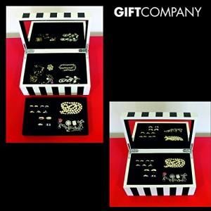 3. Gift Company Schmuckbox - schwarz-weiss gestreift