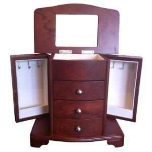 Schmuckkoffer kaufen - Zabelini Pegoso Mahagoni Modern Holz Schmuckkästchen