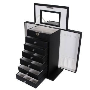 4. Schmuckkästchen schwarz - Songmics mit Schubladen