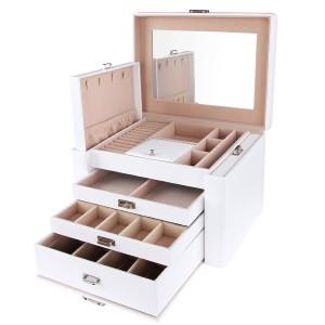 Schmuckkästchen weiß - Songmics mit drei Schubladen